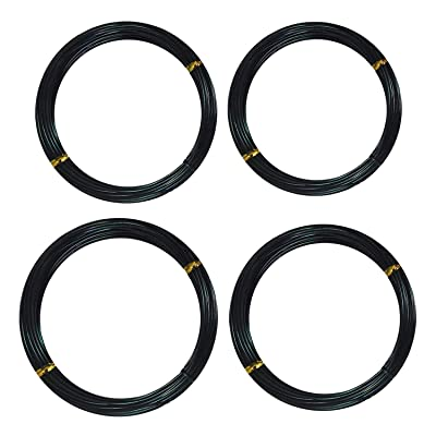 Training Wires, Training Wire for Bonsai 4 Roll 10m Aluminum Tree Training Wires for Garden Plants Bonsai Beginners Trainers Artists 1.0mm/1.5mm/2mm/2.5mm Black: Home & Kitchen