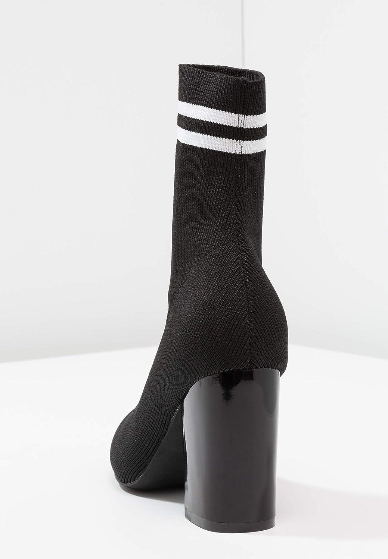 Even&Odd Damen Damen Damen High Heel Stiefelette mit trendigem Blockabsatz - Elegante Stiefelies aus hochwertigem Lederimitat - Stiefel mit elastischem Schaft 690d43