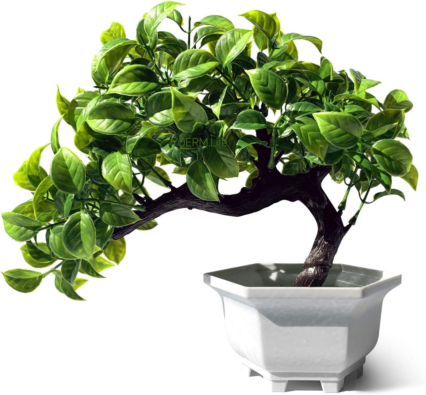 yoerm Home Decor Small Fake Plant Artificial Bonsai Tree for Living Room Office Hotel Decoration