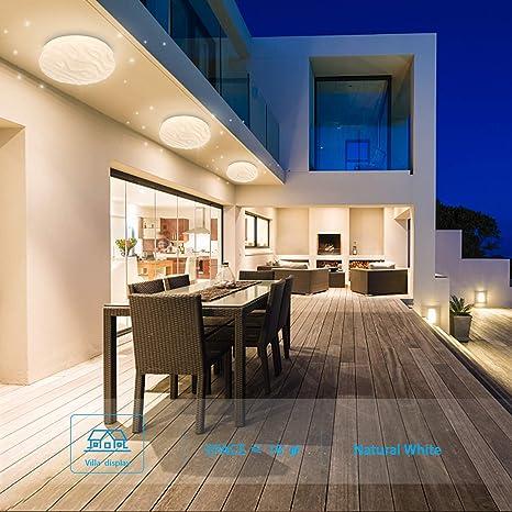 Luz de techo LED Baño Cocina Dormitorio Lámpara LED Techo Sala de estar Comedor Estudio Balcón Pasillo Habitación Redondo Moderno Impermeable Plafón ...