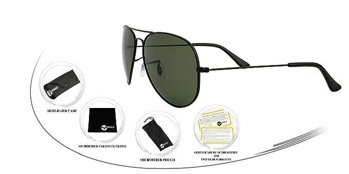 ray ban matte black aviator  Amazon.com: Ray Ban Aviator Sunglasses Style Matte Black (G-15XLT ...