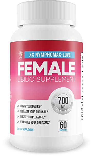 NymphoMax Love - Libido Boost - Female Drive Support - Yohimbe & and Blend of Proprietary