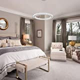 Ganeed Chandeliers,Crystal Glass Chandelier,Pendant Lighting Ceiling Lights Fixtures for Living Room Bedroom Restaurant Porch Dining Room,One Rings