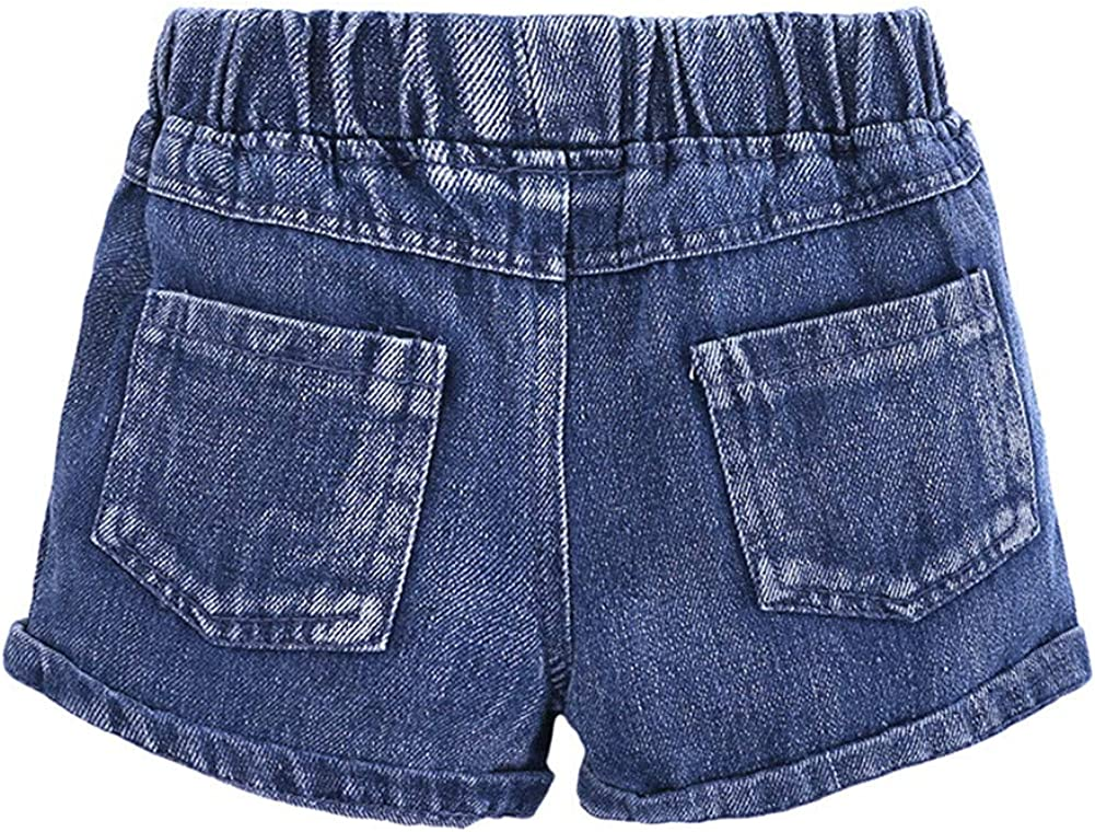 LOOLY Summer Girls 2 Piece Cloth Set Crop Top and Jeans Shorts