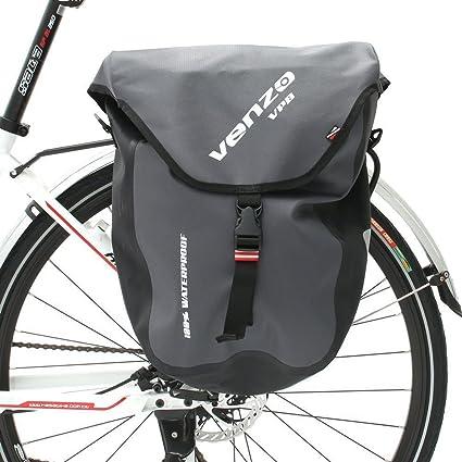 de22ae5d4314 Amazon.com   Venzo 2X 600D TPU Waterproof Bike Bicycle Rear Pannier ...