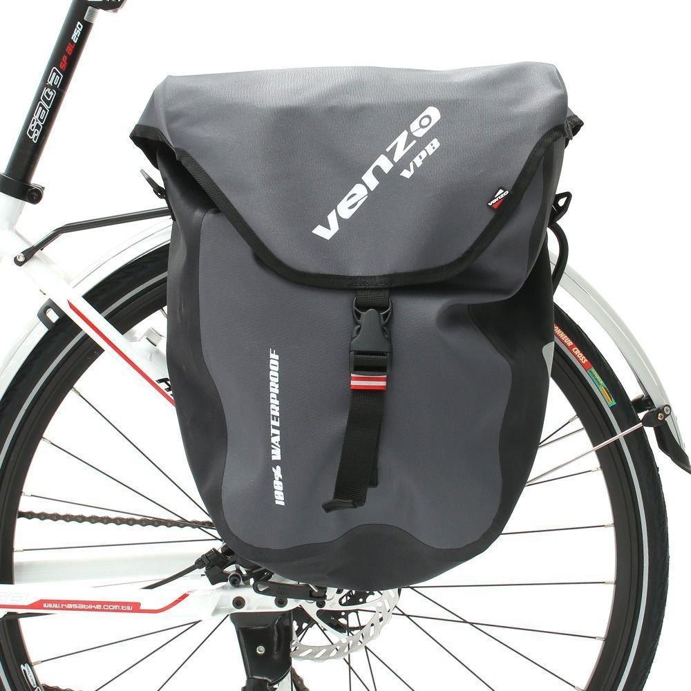 Venzo 2X 600D TPU Waterproof Bike Bicycle Rear Pannier Bags