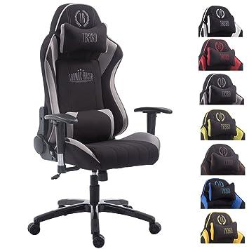 CLP Silla de oficina DRIFT XL. La silla XL tiene tapizado de tela y soporta un peso máximo de 150 kg. Con reposapiés y cojines para cuello y lumbares. ...