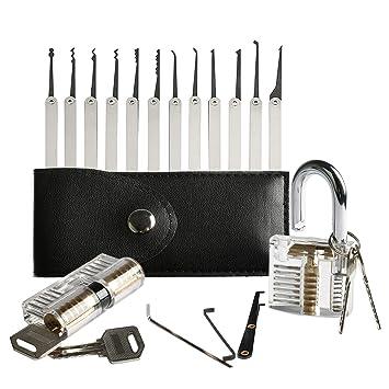 Amile Lk81 20 Stück Dietrich Werkzeuge Set Der Mit Transparent