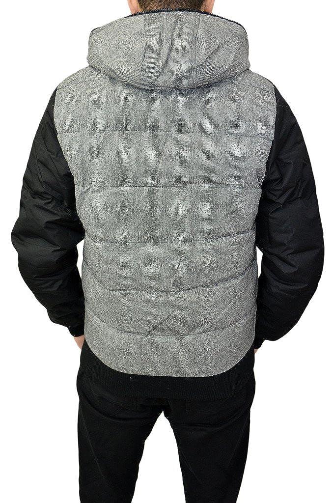 a366b3a44 Mens Designer Kangol Winter Jacket Hooded Woven Fabric Padded Warm ...