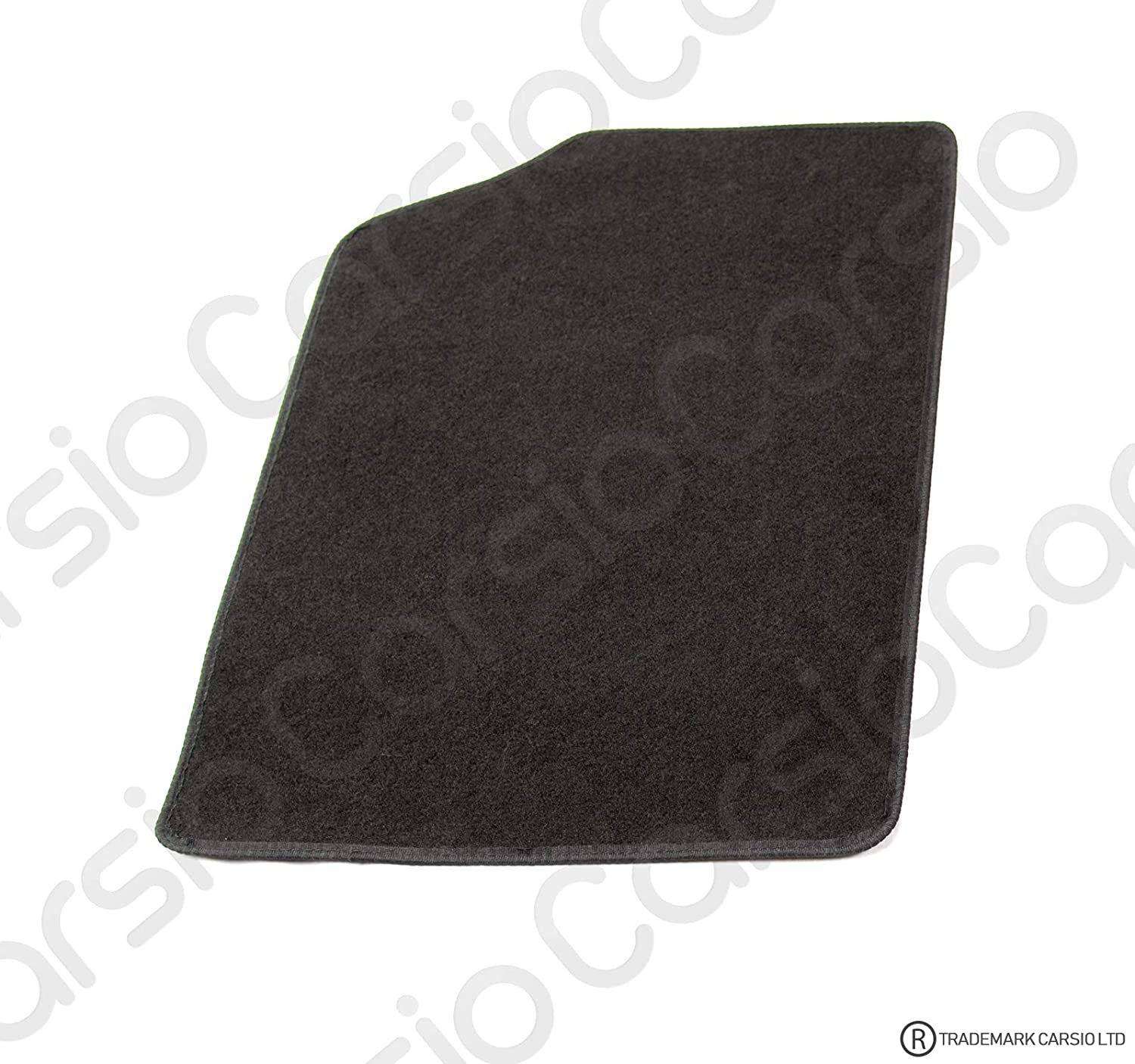 Carsio Tailored Black Carpet Car Mats for Citroen DS3 2009 to 2015-4 Piece Set with 4 Clips