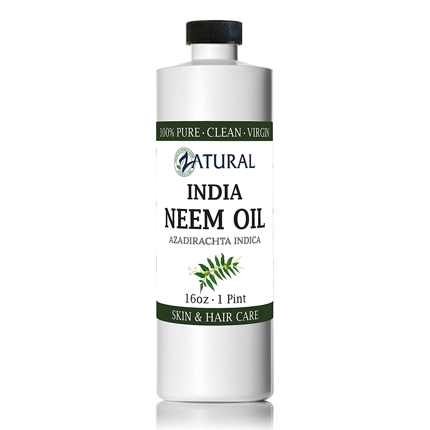 Organic Neem Oil (16 oz) 100% Pure Cold Press Skin, Hair, and Nails : Beauty