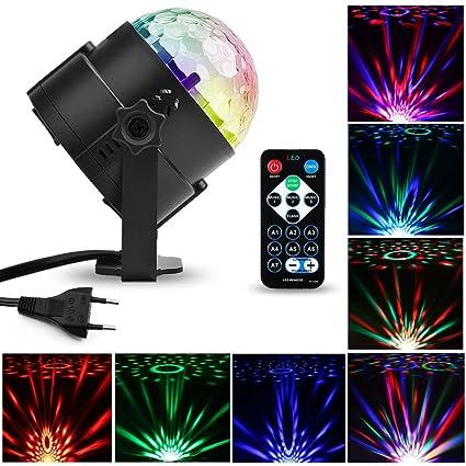Escenario Led Lámpara LámparaMture Luz Rgb Dj Discoteca De Sonido Activado Voz Bola Luces EtapaMini Por Mágica 4ARj35Lq