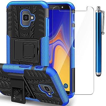 6feff78d30d AROYI Funda Samsung Galaxy J4 Plus + Protector de Pantalla, Galaxy J6 Plus 2  en 1 Duro PC Funda y Soft TPU ...