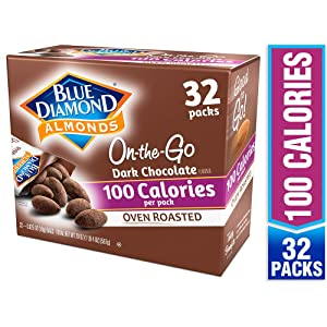 Blue Diamond Almonds, Oven Roasted Cocoa Dusted Almonds, 100 calorie packs, 32 count