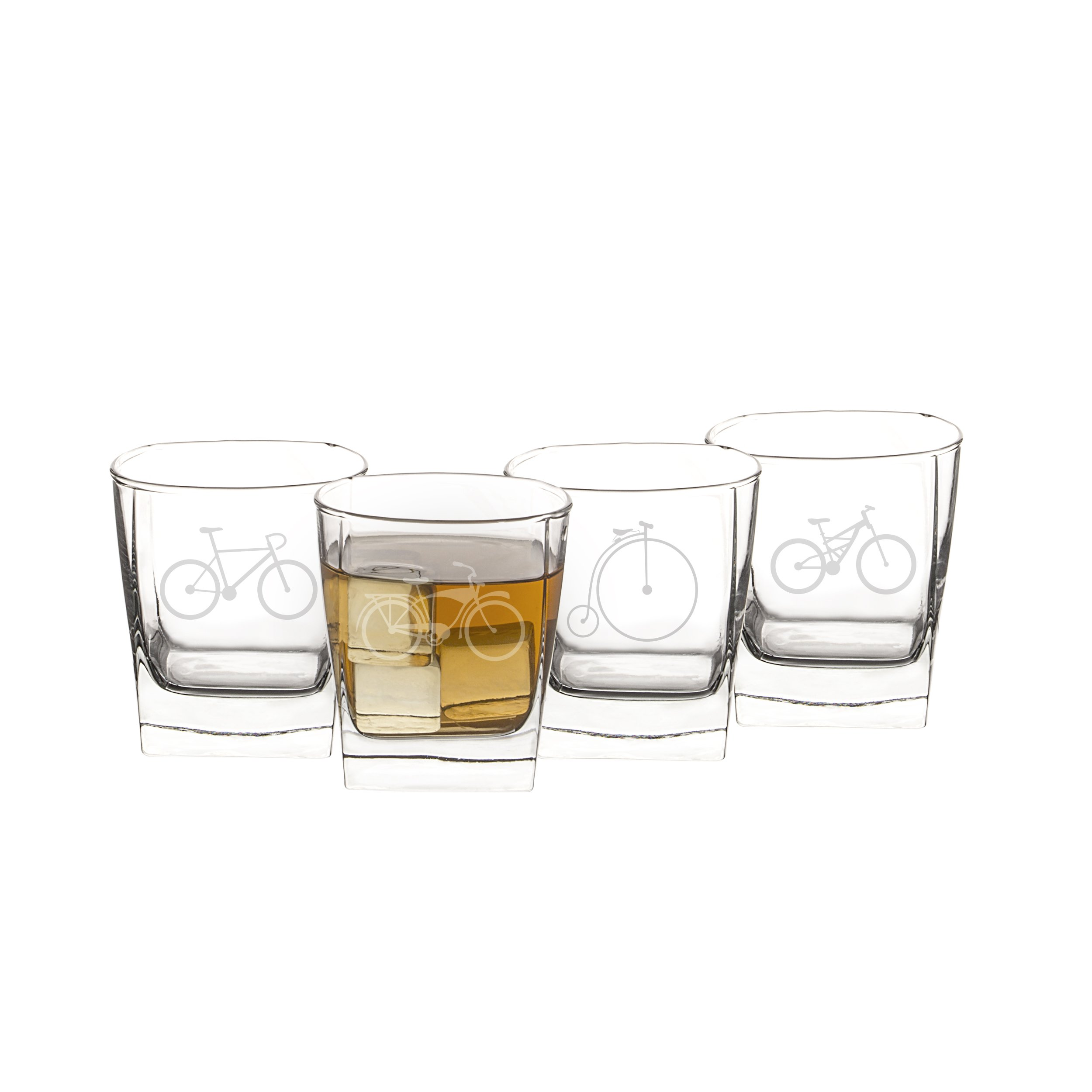 Cathy's Concepts Bicycle Rocks Glasses (Set of 4) by Cathy's Concepts (Image #2)