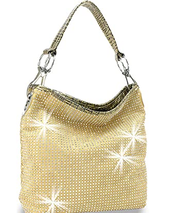 ab7d11922a Amazon.com  Zzfab All Sparkle Purse Rhinestone Handbags Bling Hobo ...