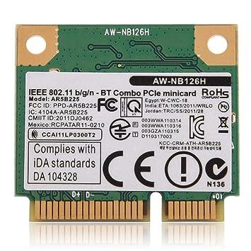 Amazon.com: Mini PCI-E Wireless Card 2.4G Bluetooth WiFi ...