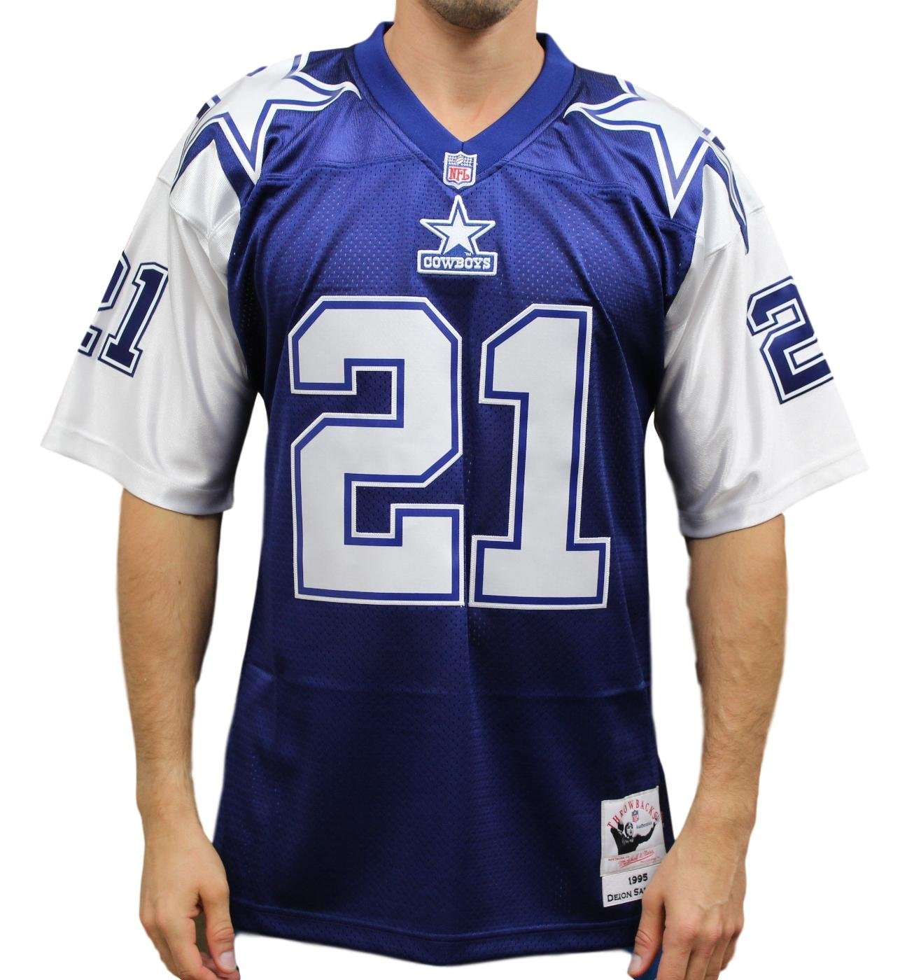 best website 7a8bd bf32d Deion Sanders Dallas Cowboys Mitchell & Ness Authentic 1995 ...