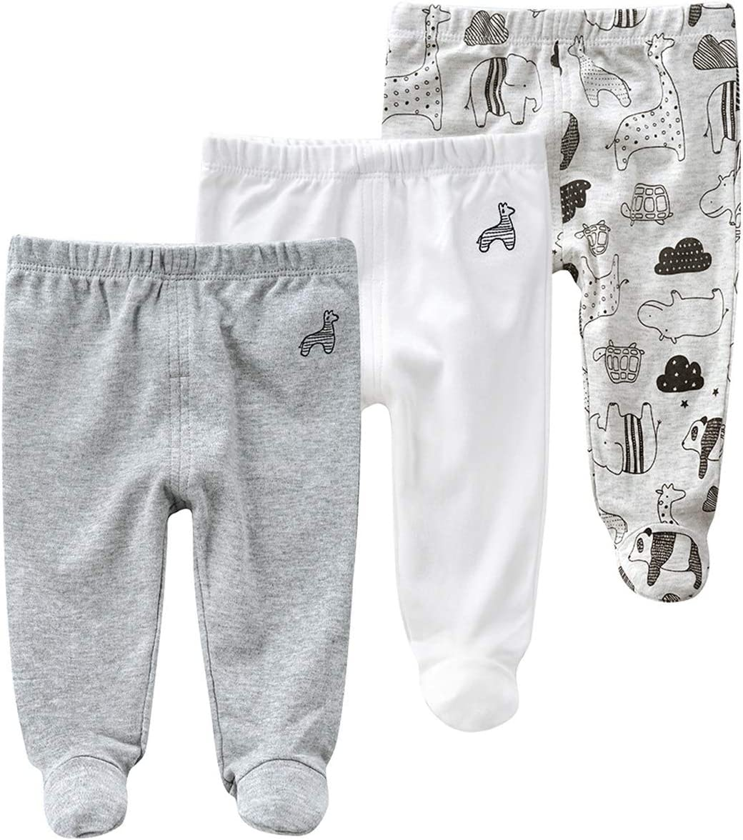 Pack of 3 TupTam Baby Boys Trousers with Feet
