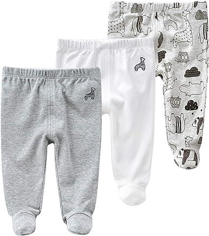 Baby Jongens Katoen Leggings 3 Pack Lange Broek Bijgevoegde Voeten Broek Voor 0 12 Maanden 66 3 6 Months Dier 1 Amazon Nl