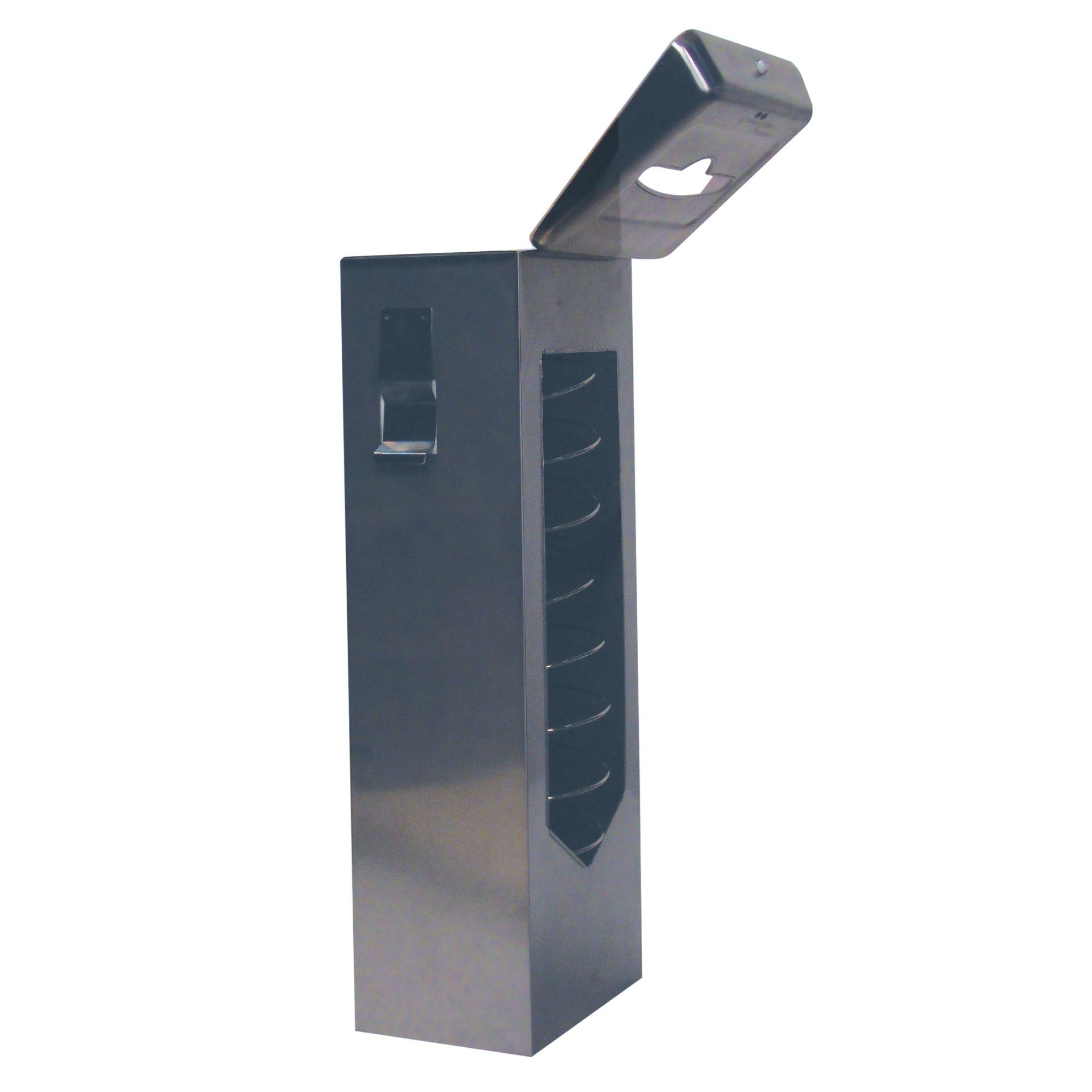 """Scott Mega Cartridge In-Counter Dispenser System (09064), For Scott Mega Cartridge Disposable Paper Napkins, 7"""" x 20"""" x 5.4"""", Stainless Steel, 1 Kit / Case"""