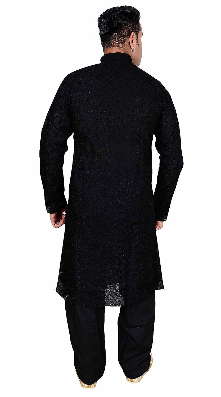 Desi Sarees Chikan algodón Kurta Salwar Kameez Pijama Fiesta étnica 728: Amazon.es: Ropa y accesorios