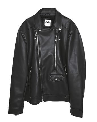 9f3588c9 Zara Men's Faux Leather Biker Jacket 1966/400: Amazon.co.uk: Clothing