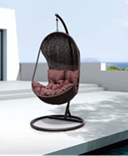 Swing Egg Stoel.Amazon Com Chans Patio Bertone Soft Touch Cozy Egg Shape Swing