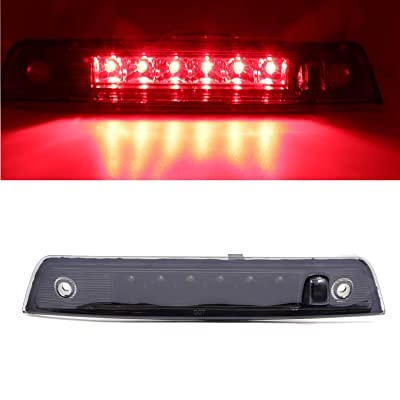 For 2005-2010 Jeep Grand Cherokee Wk Rear High Mount Brake Light LED 3rd Third Brake Light,HM015 (Smoke Lens+Black Housing): Automotive