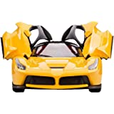 Webby Remote Controlled Super Car with Opening Doors, Yellow