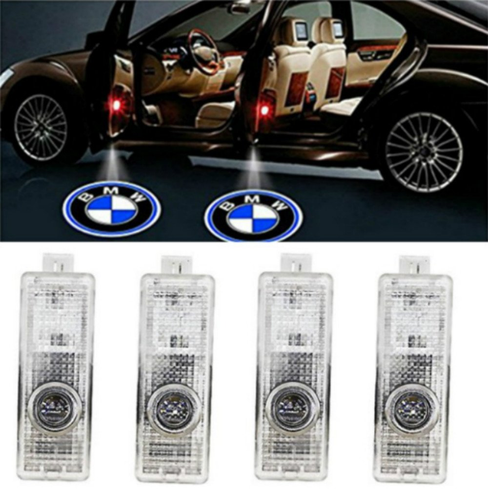 AMINEY 4 Pcs Door Light Car Vehicle Ghost LED Courtesy Welcome Logo Light Lamp Shadow Projector For BMW Easy Installation /…