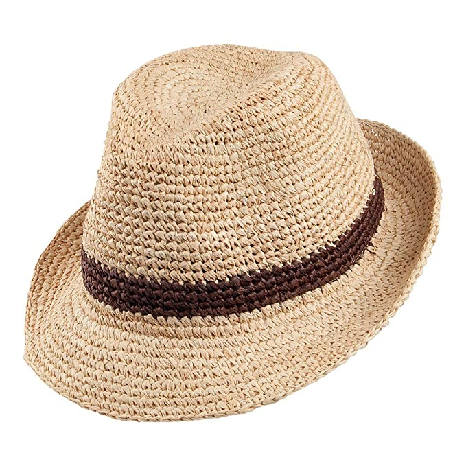 efb6ece7d92 Christys Hats Bude Straw Trilby - Natural Small Medium  Amazon.co.uk ...