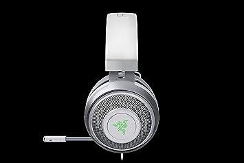 Razer Kraken 7.1 V2 Mercury Edition Binaural Diadema Gris, Plata, Blanco auricular con micrófono