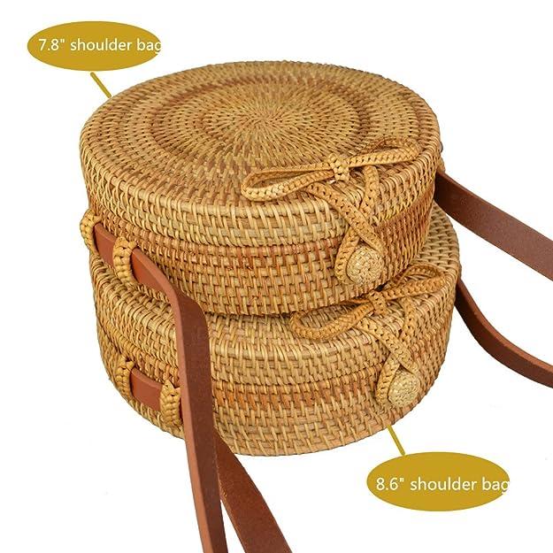 Amazon.com: amololo Vintage Designer Tropical ratttan paja ...