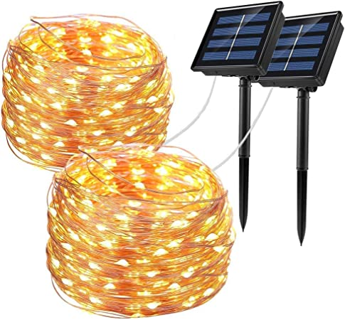Outdoor Solar Power 100 LED 10M Copper Wire Light String Fairy Xmas Decor CHK
