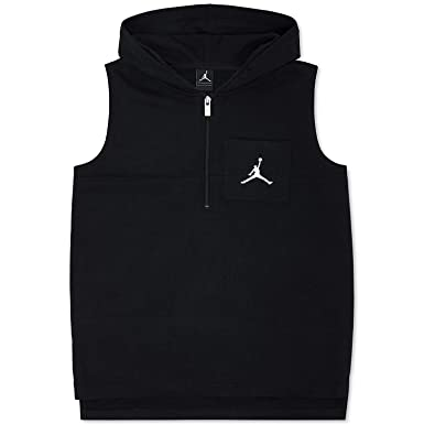 7b9b15807dc6ba Amazon.com  Jordan Nike Boys  Sonic Quarter-Zip Hooded Vest  Clothing