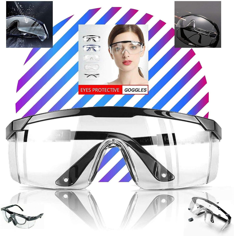 LogicaShop - Juego de Gafas Protectoras Sanitarias Virus para Mujer con Certificado CE, Protección de Ojos, Química Antivaho Transparente de Laboratorio Químico Para Trabajo Hombre
