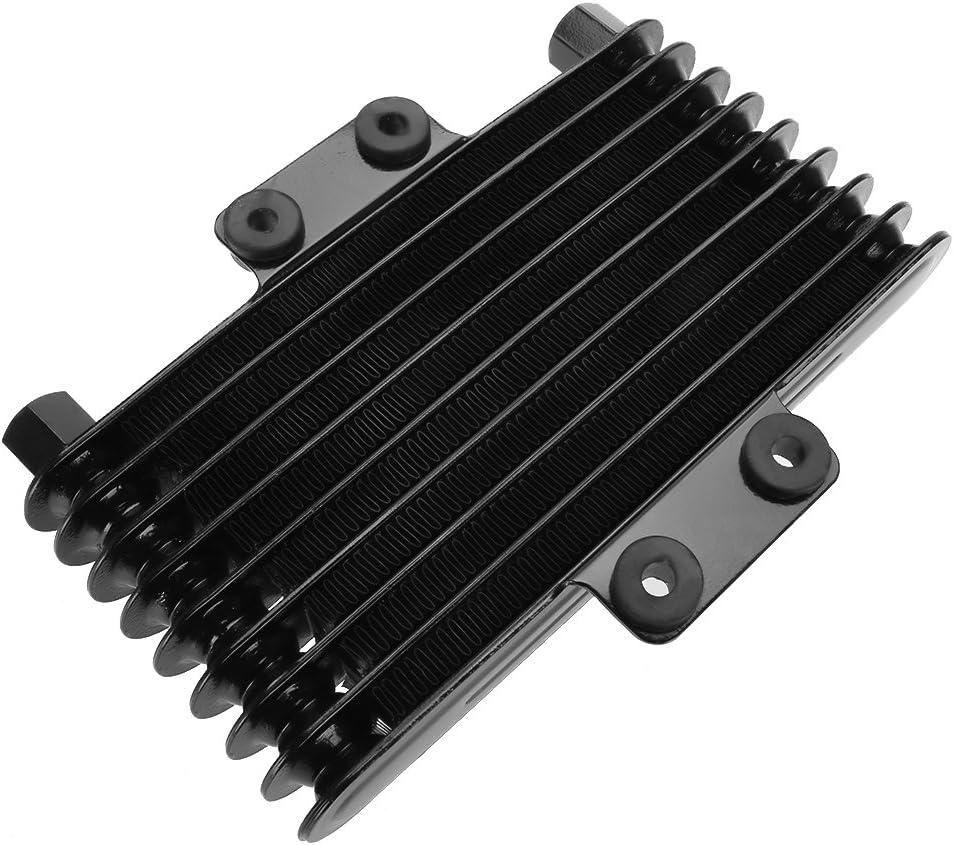 ETbotu Kit Radiatore Olio Adattatore Sandwich Filtro Olio Tubo Flessibile in Nylon Acciaio Inossidabile Nero +6721 Kit radiatore Olio 13 File