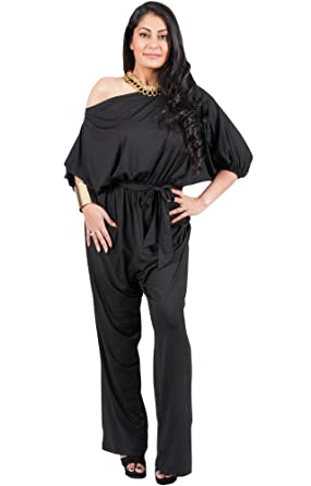 d18bef5abf0 Adelyn and Vivian Plus Size Women s Long Sexy One Shoulder 3 4 Sleeve  Summer Elegant