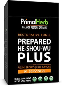 Organic He Shou Wu Fo Ti 30:1 Extract Powder 91 Servings Aged Roots Primal Herb