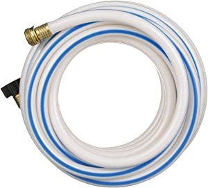 "Valterra AquaFresh High Pressure Drinking Water Hose, Water Hose Hookup for RV - 1/2"" x 25', White"