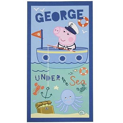 Peppa Pig Toalla De Playa Chica bajo el mar 70 x 140 cm, azul,