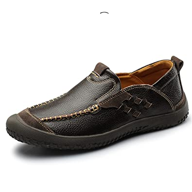 78bc81ecc4fd24 Image Unavailable. Image not available for. Color  Nelliewins Men S Genuine  Leather Shoes Casual Vintage Zapatos Designer Male Walking ...