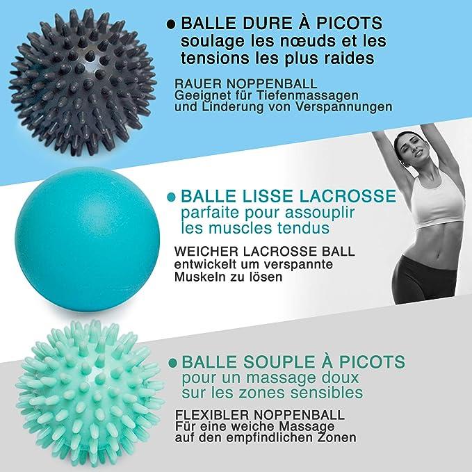 Ensemble de Balles de Massage en Mousse 16x 8cm-#05 Balles de Th/érapie de Yoga Ppe Outil pour Soulager Le Stress Musculaire Du Corps en Rouleau