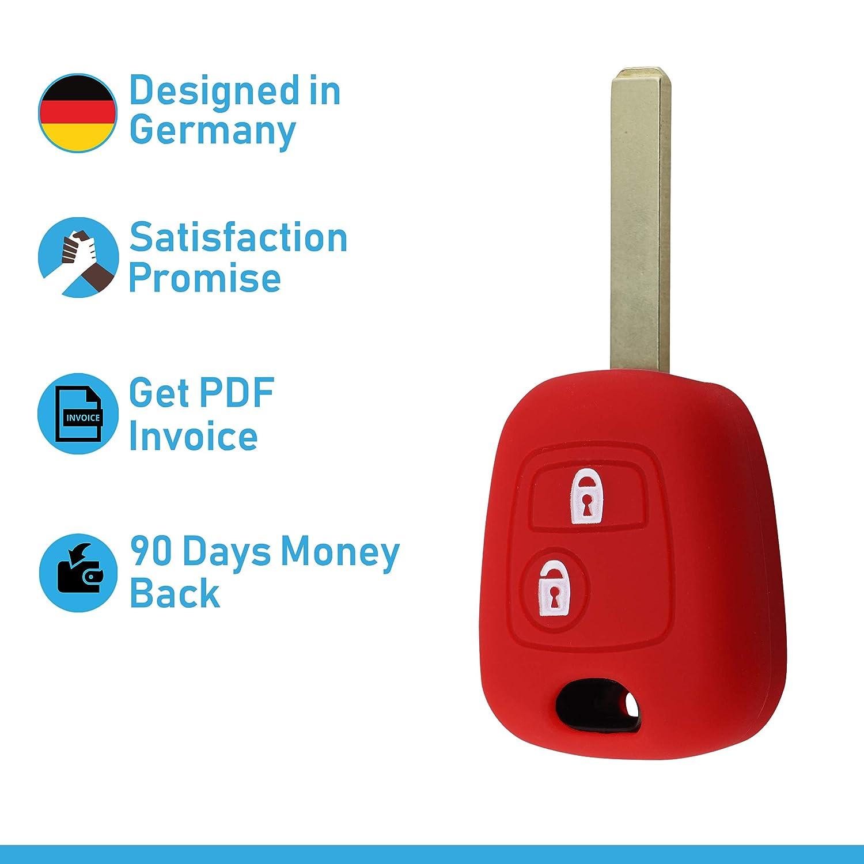ASARAH Couvercle de cl/é en Silicone Premium Compatible avec Peugeot Couvercle de Protection pour cl/és de Voiture Couvercle pour Type de cl/é 2BK Blanc