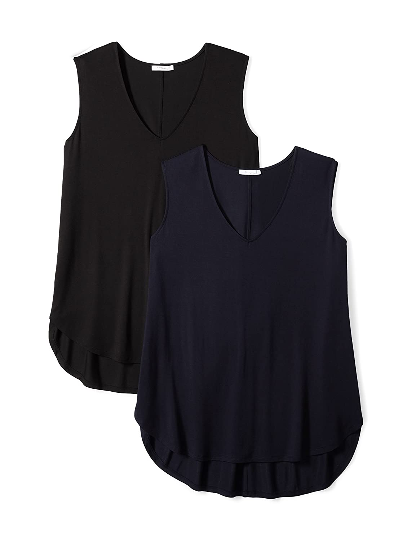 Daily Ritual Women's Plus Size Jersey V-Neck Tank Top PIRD-17031402-W