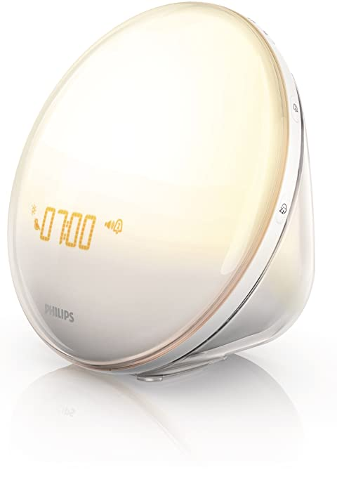 Philips Wake-Up Light Alarm Clock with Colored Sunrise Simulation