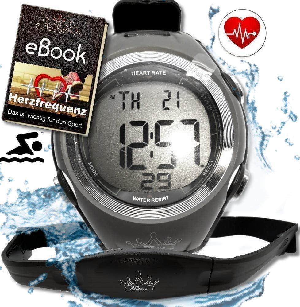 Fitness Prince © Heartbeat Monitor frecuencia cardíaca Correa para Pecho Medición frecuencia cardíaca y gimnasios Ant Área Entrenamiento, Consumo Quema Grasa Deportivo Impermeable (natación)