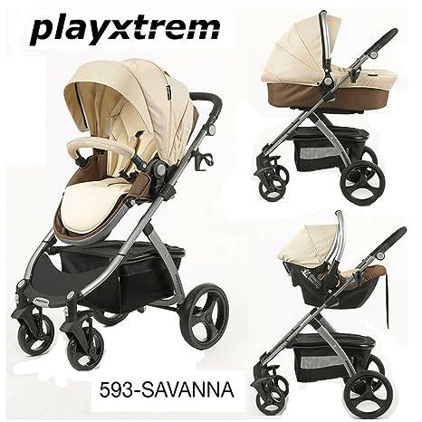 Playxtrem - Coche de paseo trío skyline savanna beige