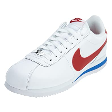 nike cortez red and white